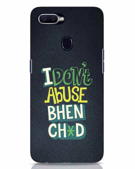 Shop I Dont Abuse Oppo F9 Pro Mobile Cover-Front