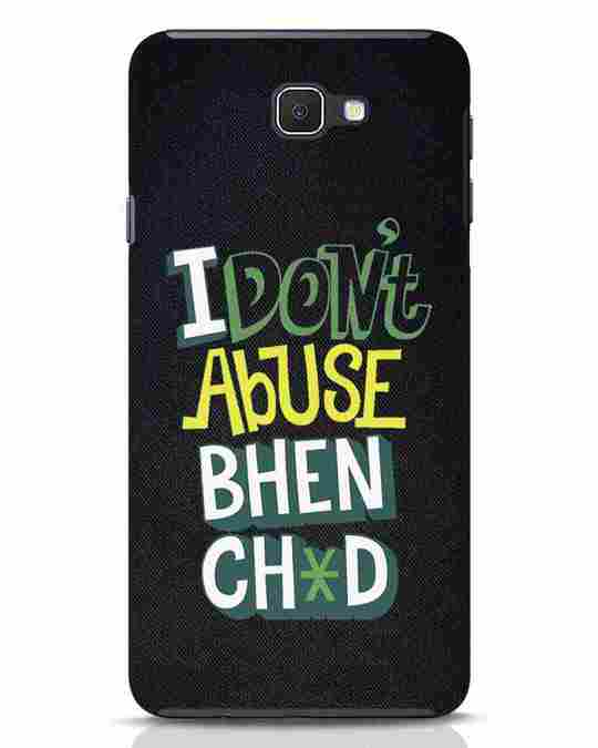 Shop I Dont Abuse Samsung Galaxy J7 Prime Mobile Cover-Front