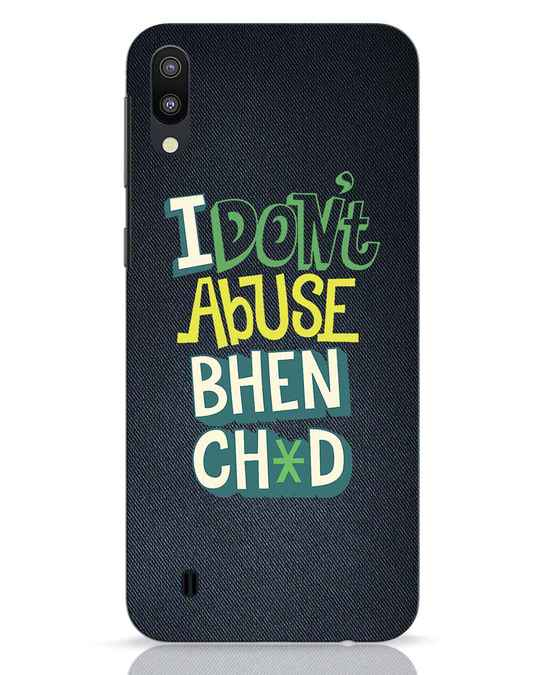 Shop I Dont Abuse Samsung Galaxy M10 Mobile Cover-Front