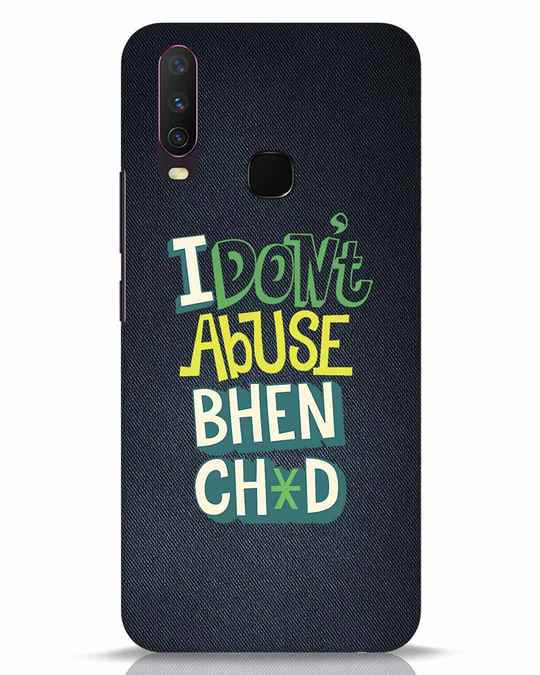Shop I Dont Abuse Vivo Y17 Mobile Cover-Front
