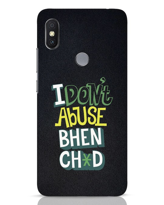 Shop I Dont Abuse Xiaomi Redmi Y2 Mobile Cover-Front