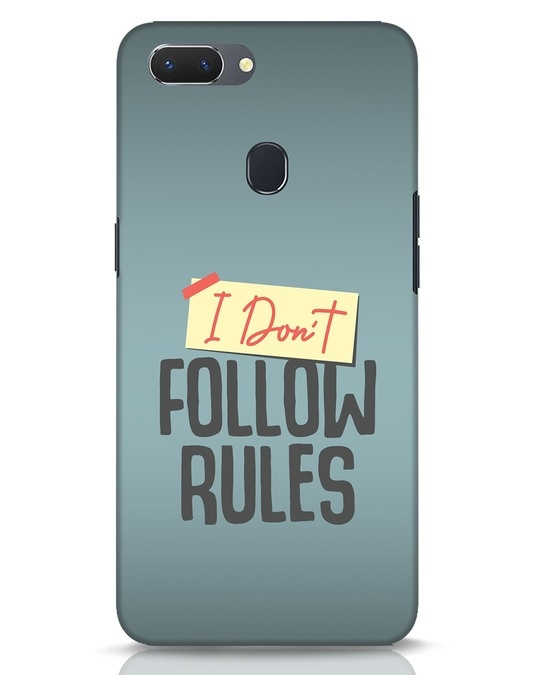 Shop I Dont Follow Rules Realme 2 Mobile Cover-Front
