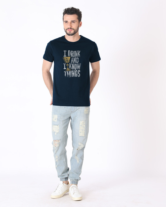 Shop I Drink And I Know Things Half Sleeve T-Shirt (GTL)-Full