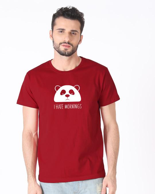Shop I Hate Mornings Half Sleeve T-Shirt-Back
