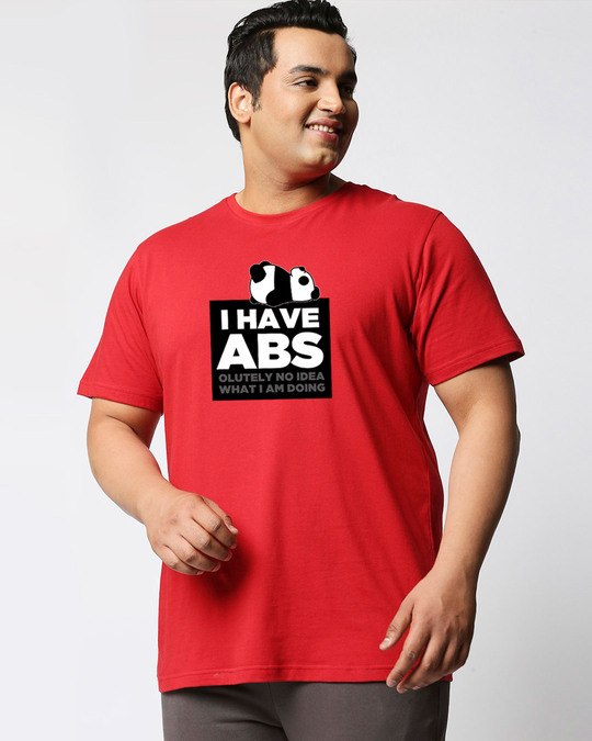 Shop I Have Abs Half Sleeve Plus Size T-Shirt-Front