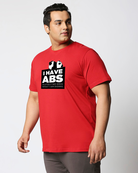 Shop I Have Abs Half Sleeve Plus Size T-Shirt-Back