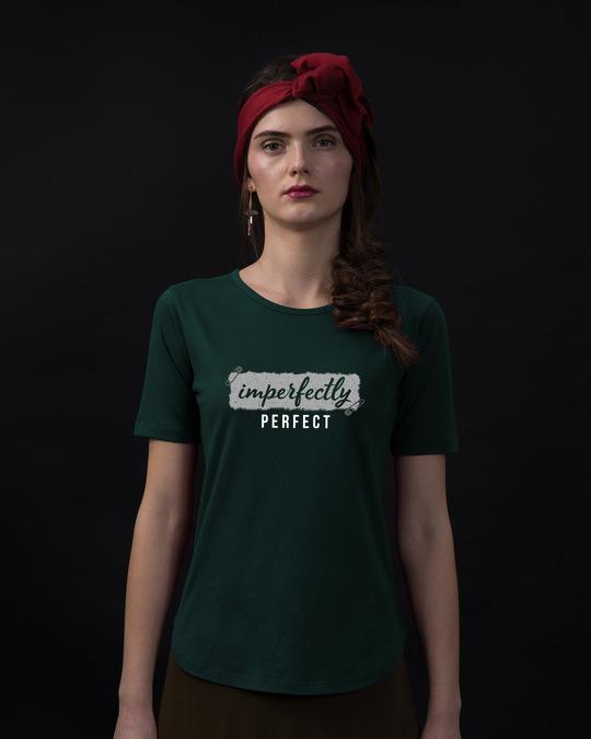 Shop I'm Perfect Basic Round Hem T-Shirt-Front