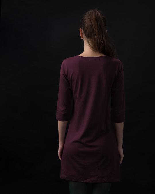 Shop I'm Perfect Boat Neck 3/4th Sleeve T-Shirt Dress-Full