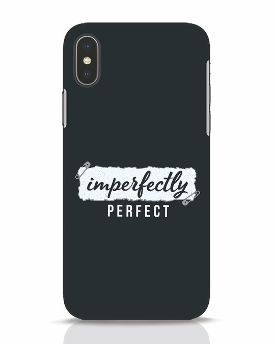 Shop I'm Perfect iPhone X Mobile Cover-Front