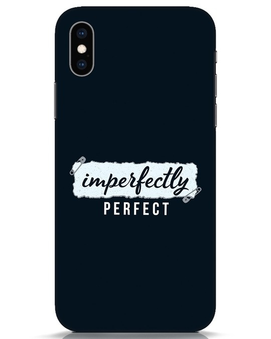 Shop I'm Perfect iPhone XS Mobile Cover-Front