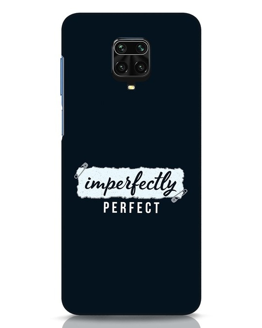 Shop I'm Perfect Xiaomi Redmi Note 9 Pro Mobile Cover-Front
