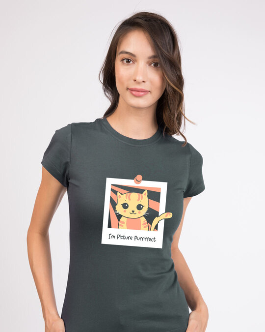 Shop I'm Picture Purrrfect Half Sleeve T-Shirt-Front