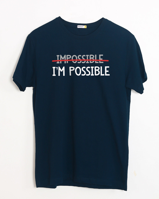 Shop I'm Possible Half Sleeve T-Shirt-Front