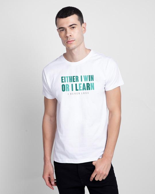 Shop I Never Loose Hope Half Sleeve T-Shirt White-Front