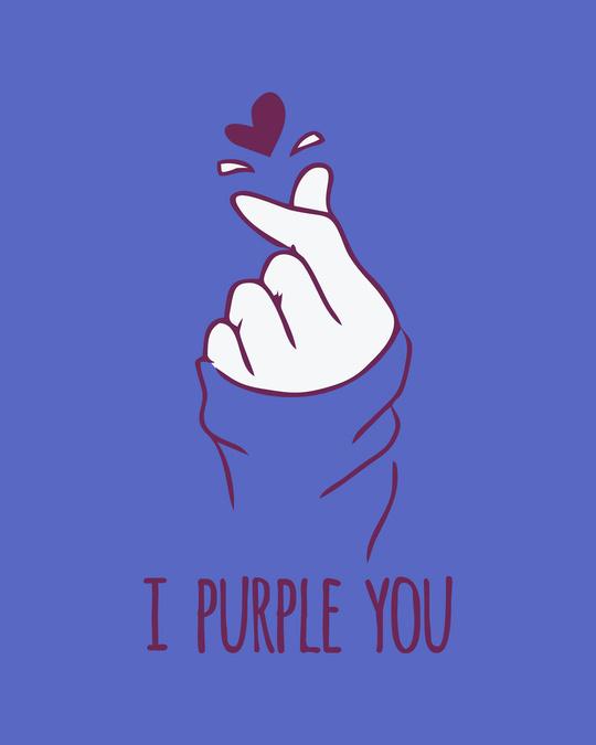 Shop I Purple You Round Neck 3/4th Sleeve T-Shirt