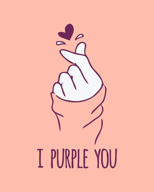 Shop I Purple You Round Neck Crop Top T-Shirt