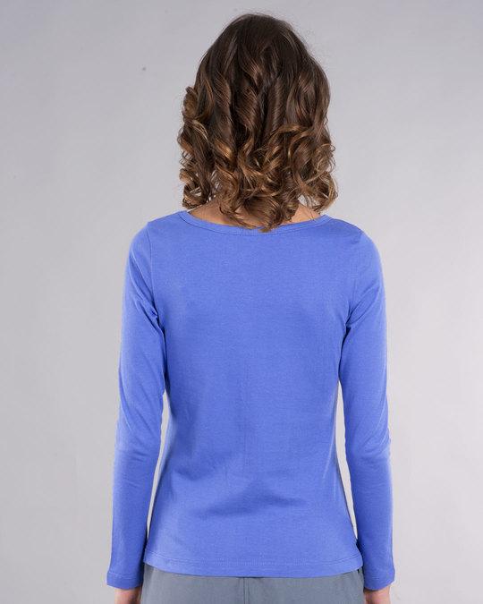 Shop I Purple You Scoop Neck Full Sleeve T-Shirt-Back