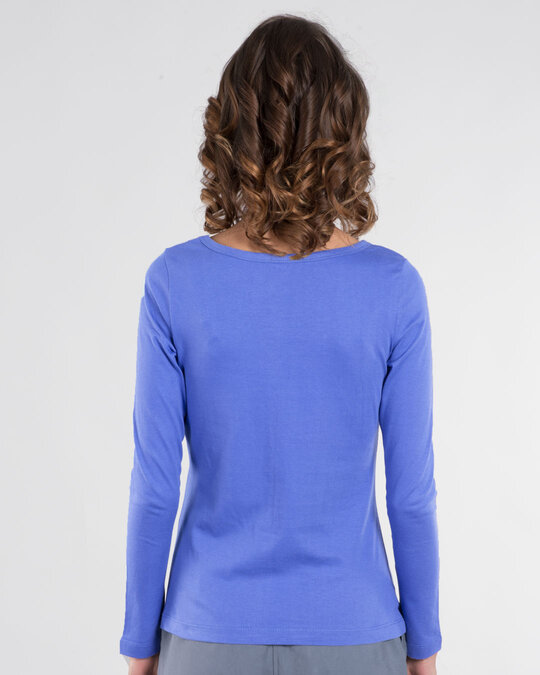 Shop I Purple You Scoop Neck Full Sleeve T-Shirt-Back