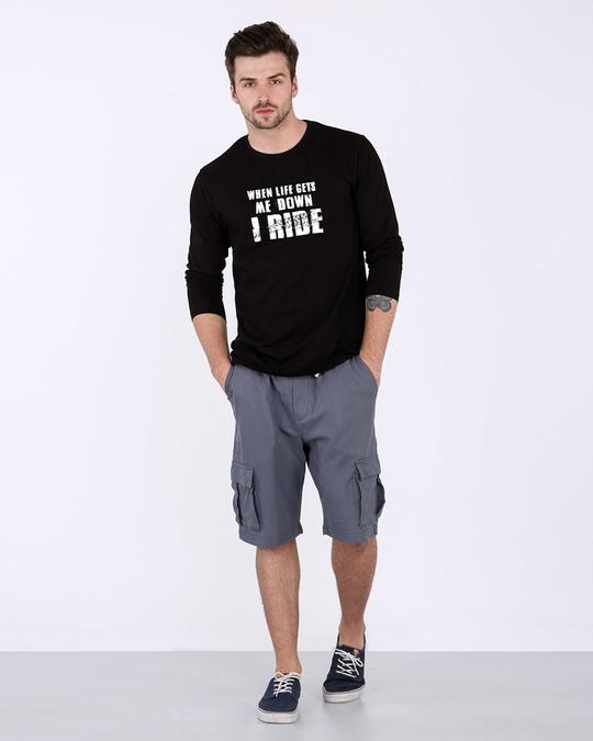 Shop I Ride Full Sleeve T-Shirt-Design