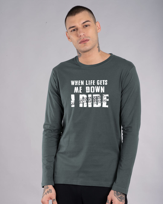 Shop I Ride Full Sleeve T-Shirt-Front