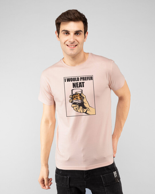 Shop I Would Prefer Neat Half Sleeve T-Shirt Baby Pink-Front