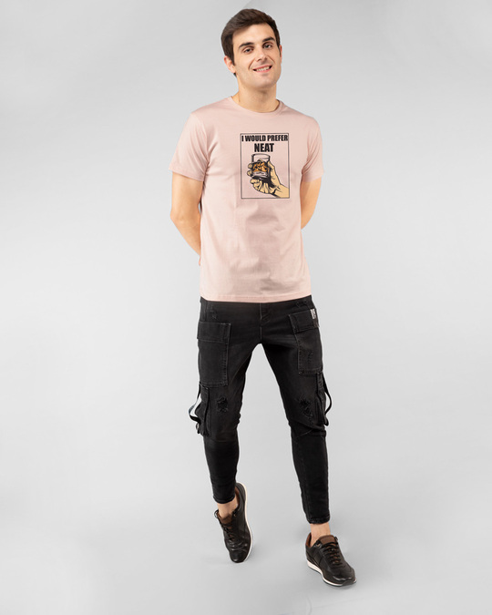 Shop I Would Prefer Neat Half Sleeve T-Shirt Baby Pink-Design