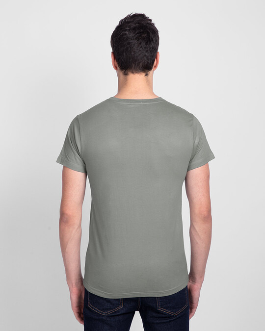 Shop I Would Prefer Neat Half Sleeve T-Shirt Meteor Grey-Back