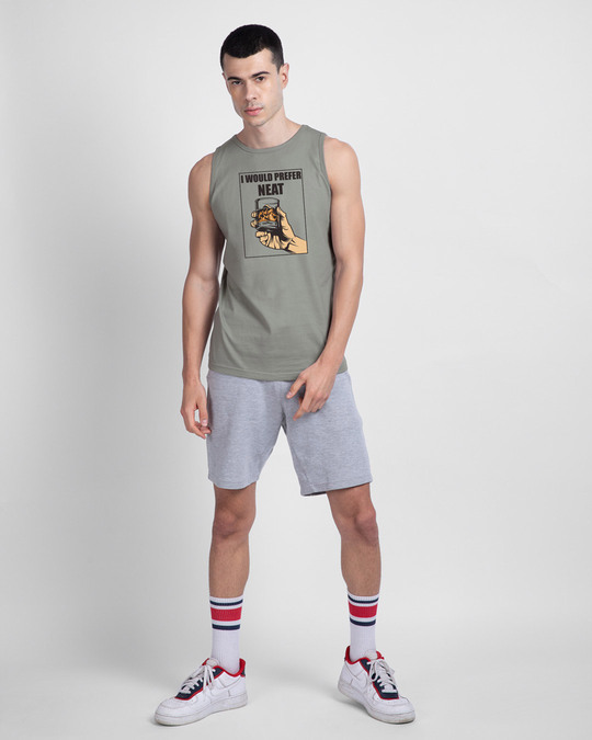 Shop I Would Prefer Neat Round Neck Vest Meteor Grey-Full