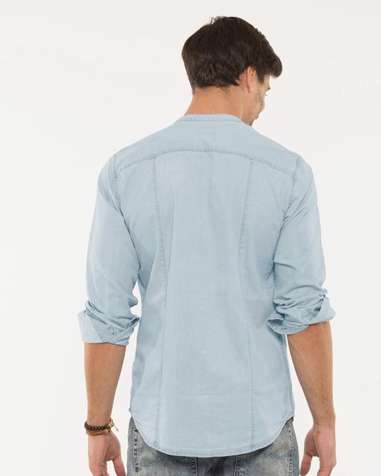 Shop Ice Blue Denim Shirt-Design