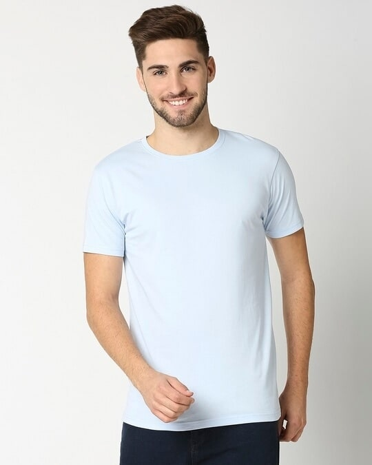 Shop Ice Water Blue Half Sleeve T-shirt-Front