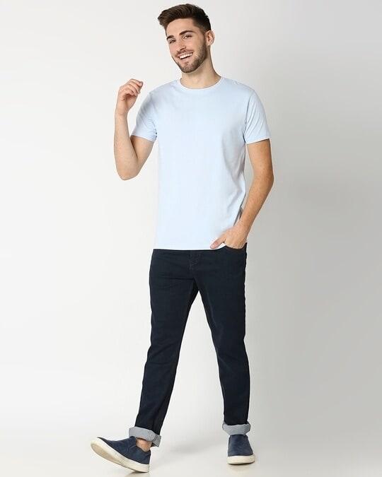 Shop Ice Water Blue Half Sleeve T-shirt-Full