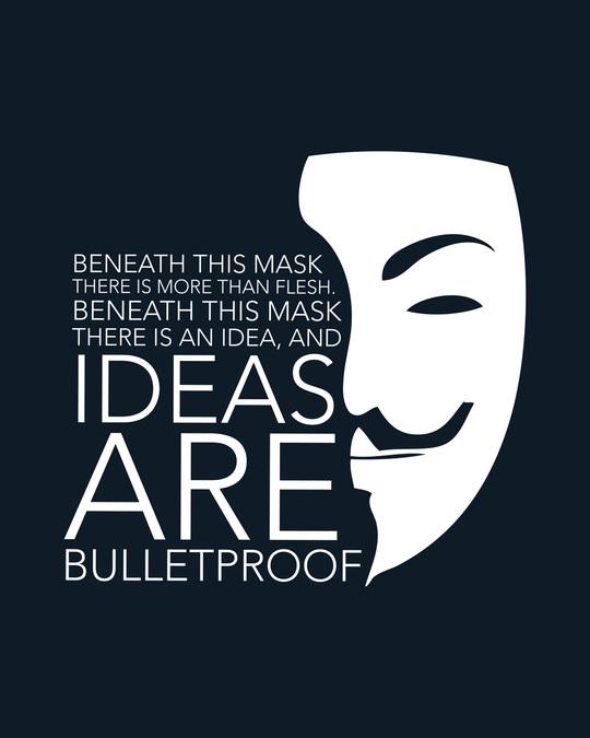 Shop Ideas Are Bulletproof Half Sleeve T-Shirt