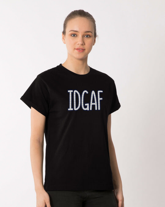 Shop Idgaf Boyfriend T-Shirt-Back