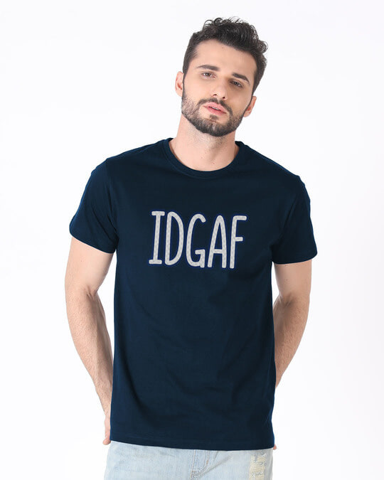 Shop Idgaf Half Sleeve T-Shirt-Back