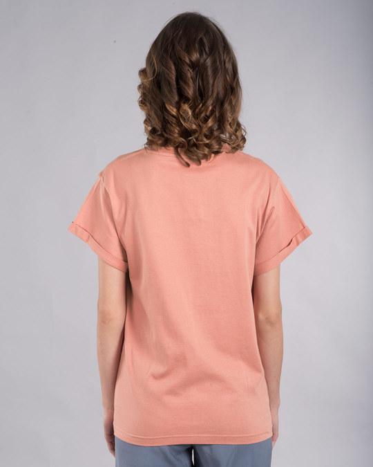 Shop Imagine Heart Boyfriend T-Shirt-Back