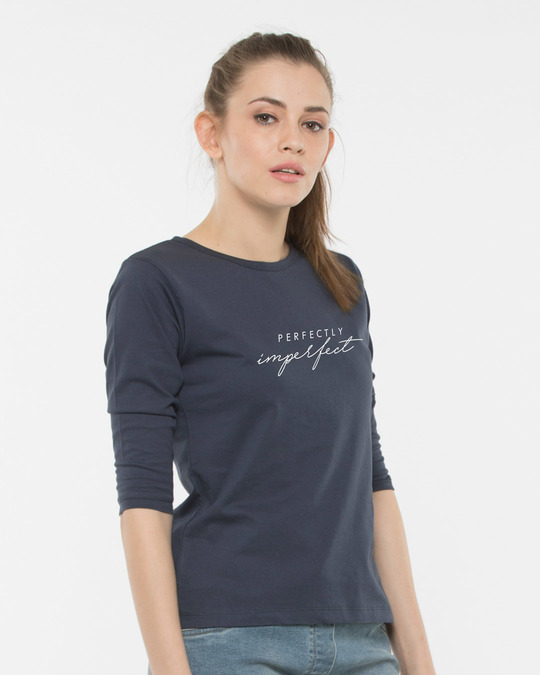 Shop Imperfect Round Neck 3/4th Sleeve T-Shirt-Back