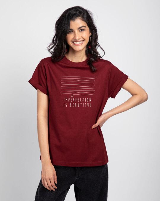 Shop Imperfection Boyfriend T-Shirt-Front