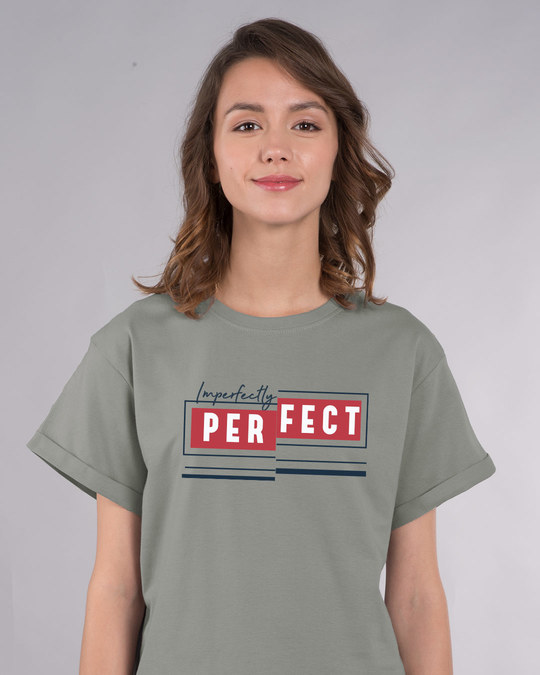Shop Imperfectly Perfect 2.0 Boyfriend T-Shirt-Front