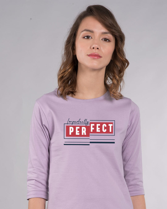Shop Imperfectly Perfect 2.0 Round Neck 3/4th Sleeve T-Shirt-Front