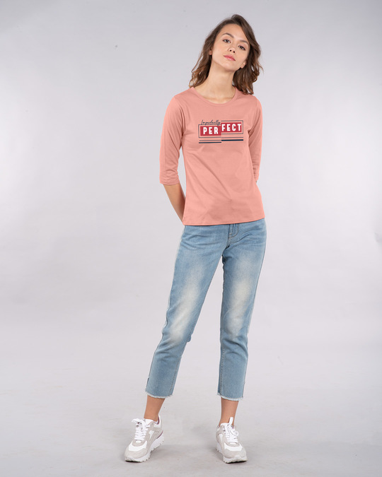 Shop Imperfectly Perfect 2.0 Round Neck 3/4th Sleeve T-Shirt-Design