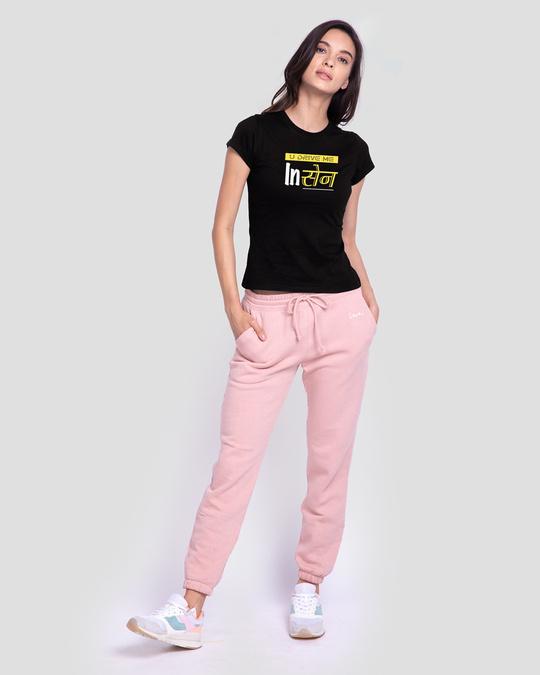 Shop In Sane Women's Printed Black T-shirt-Design