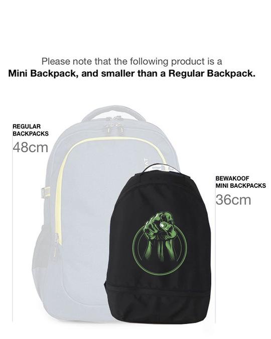 Shop Incredible Hulk Small Backpack (AVL)-Back