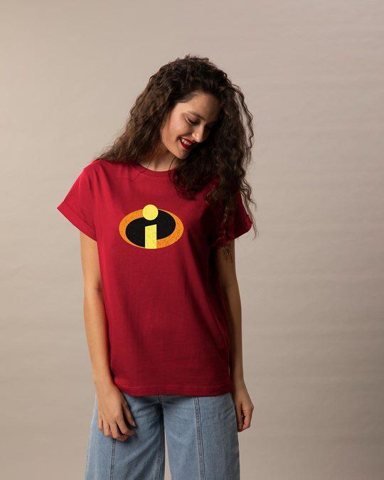 Shop Incredible Logo Boyfriend T-Shirt (DL)-Full