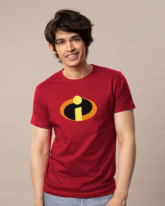 Shop Incredible Logo Half Sleeve T-Shirt (DL)-Back