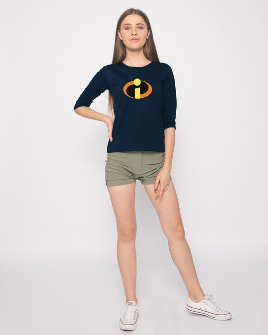 Shop Incredible Logo Round Neck 3/4th Sleeve T-Shirt (DL)-Full