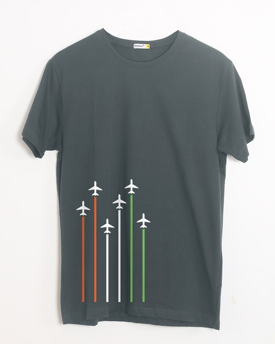 Shop Independence Day Planes Half Sleeve T-Shirt-Front
