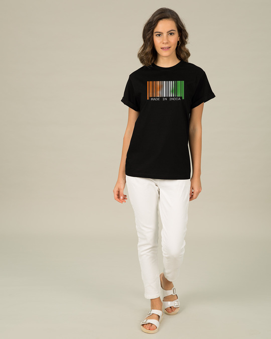 Shop India Barcode Boyfriend T-Shirt-Full