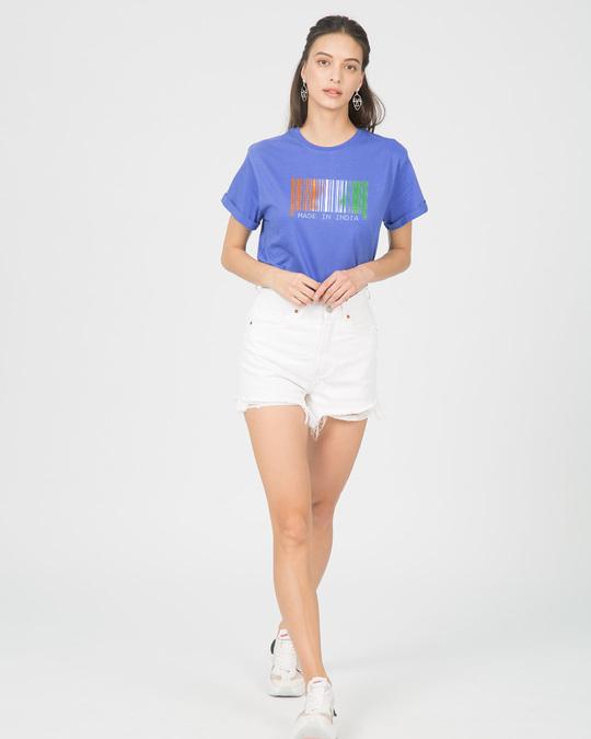 Shop India Barcode Boyfriend T-Shirt-Full