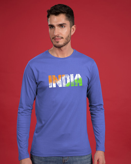 Shop India Tricolor Full Sleeve T-Shirt-Front