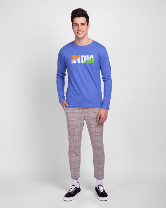 Shop India Tricolor Full Sleeve T-Shirt-Design